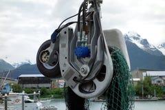 Un grand treuil à filet en Alaska Images libres de droits
