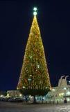Un grande albero di Natale Fotografia Stock