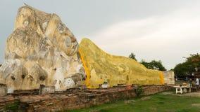 Un grande Buddha a ayutthaya Fotografia Stock Libera da Diritti