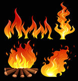 Un grande fuoco Immagine Stock Libera da Diritti