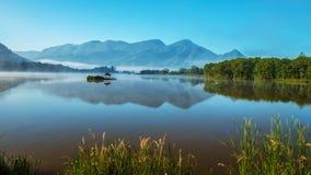 Un grande paesaggio di nove laghi fotografia stock