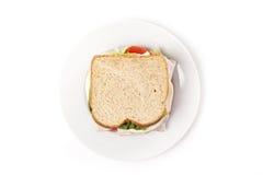Un grande panino di tacchino Immagine Stock Libera da Diritti