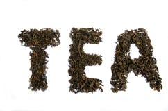 Un grande tè della foglia Fotografia Stock