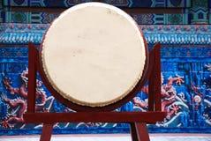 Un grande tamburo cinese Fotografie Stock Libere da Diritti