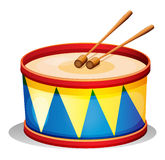 Un grande tamburo del giocattolo Fotografie Stock Libere da Diritti