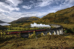 Un grande vecchio treno funzionante del vapore Fotografia Stock