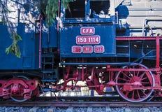Un grande vecchio treno funzionante del vapore Fotografia Stock Libera da Diritti