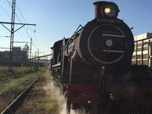 Un grande vecchio treno funzionante del vapore Fotografie Stock Libere da Diritti