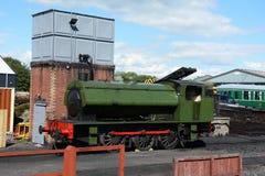 Un grande vecchio treno funzionante del vapore Immagini Stock Libere da Diritti