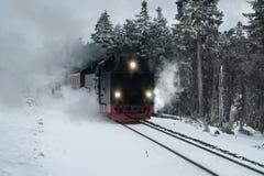 Un grande vecchio treno funzionante del vapore Immagine Stock Libera da Diritti