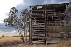 Un granero de bambú arruinado Imagen de archivo libre de regalías