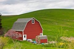 Un granero en Palouse, Washington Foto de archivo libre de regalías