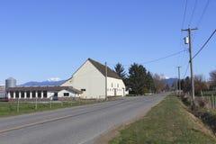 Un granero rural en Abbotsford, Columbia Británica Fotos de archivo libres de regalías