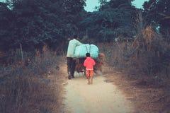 Un granjero indio imagen de archivo