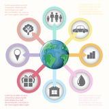 Un graphique montrant le globe Image libre de droits