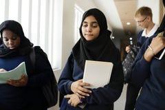 Un groupe d'étudiants musulmans Images libres de droits