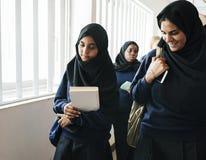 Un groupe d'étudiants musulmans Photo libre de droits
