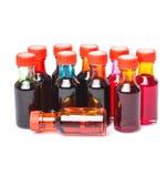 Un groupe d'additifs de couleur de nourriture I images libres de droits