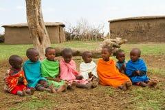 Un groupe d'enfants de kenyan Image stock