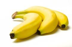 Un groupe de 3 bananes Images stock