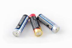 Un groupe de batteries d'aa Photos libres de droits