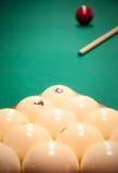 Un groupe de billes blanches Photo libre de droits