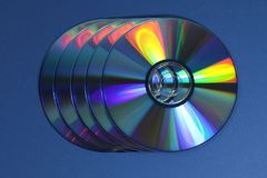 Un groupe de Cd ou de DVD Images libres de droits