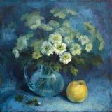 Un groupe de chrysanthemum avec le coing Images stock