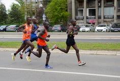 A group of marathon competitors during the 32nd Belgrade Marathon on April 14, 2019 in Belgrade, Serb