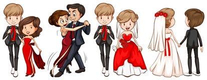 Un groupe de couples Image libre de droits