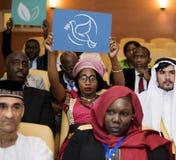 Un groupe de délégués internationaux images libres de droits