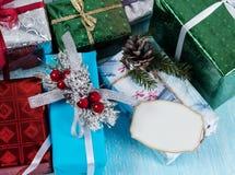 Un groupe de divers boîte-cadeau Image libre de droits