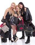 Un groupe de filles heureuses ayant l'amusement Images libres de droits
