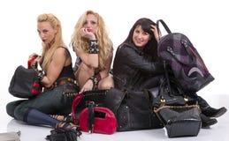 Un groupe de filles heureuses ayant l'amusement Image libre de droits