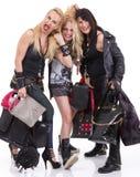 Un groupe de filles heureuses ayant l'amusement Photographie stock libre de droits