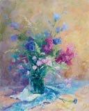 Un groupe de fleurs de source Photos libres de droits