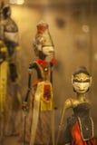 Un groupe de marionnette indonésienne d'ombre, Wayang Photos stock