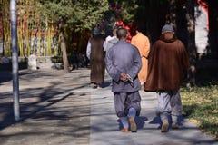 Un groupe de moine insouciant photo stock