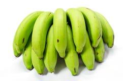 Un groupe de paquet vert de banane Photos libres de droits
