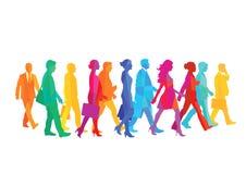 Un groupe de personnes marche illustration libre de droits