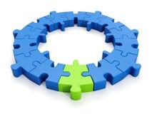 Un groupe de puzzles, le créateur Images libres de droits