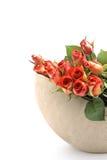 Un groupe de roses dans un vase Photo stock