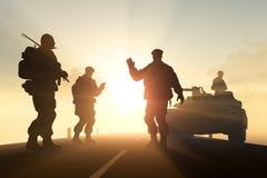 Un groupe de soldats Images libres de droits