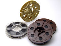 Un groupe de vieilles bandes de film de 8mm Images libres de droits