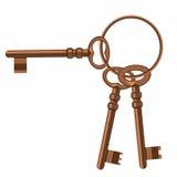 Un groupe de vieilles clés. Image libre de droits