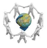 Un groupe global de gens de symbole Images libres de droits