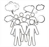 Un groupe a une discussion. Image libre de droits