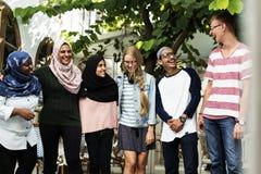 Un grupo de adolescentes diversos africanos Imagen de archivo