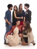 Amigos de la moda Foto de archivo