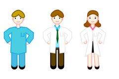 Un grupo de médicos del especialista que personifican el staf Foto de archivo